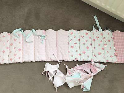 Daisy Lane Cot Bumper And Bunting Mothercare