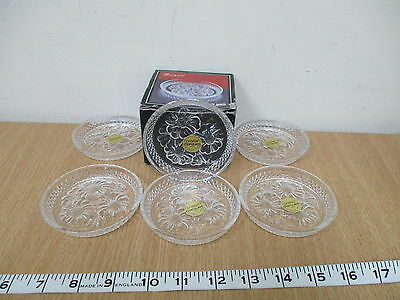Cristal D'arques Breteuil Set of 6 Lead Crystal Coasters 9cm