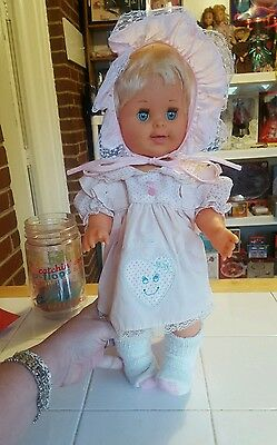 "1989 Betsy Wetsy Doll 17"" Blonde Blue Eyes Open & Close Eyes"