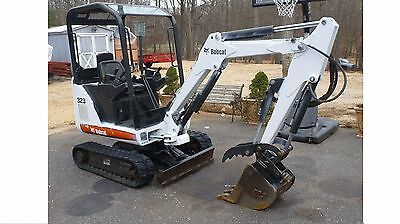 2008 Bobcat 323 Mini Excavator with Hydraulic Thumb Low Hours No Issues 2 Speed