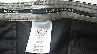 "M&S Black Relaxed Fit Chinos 44"" Waist"