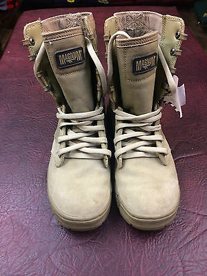 GENUINE BRITISH ARMY ISSUE MAGNUM AMAZON  DESERT BOOTS USED SIZE 4 MEDIUM sand