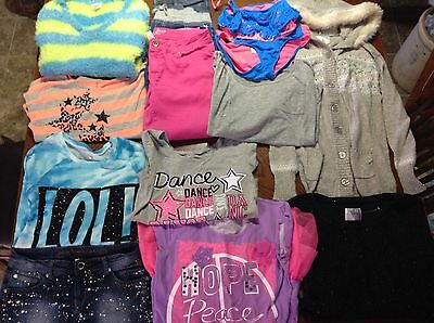 Justice Lot of 13 Shirts Jeans Sweaters Girls Size 16