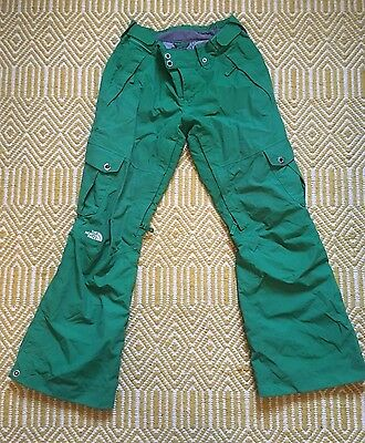 NORTH FACE Womens Ski Snowboard Trousers Pants Salopettes Green Size Small 8-10