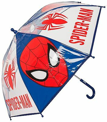 Marvel Ultimate Spiderman Childs Heads Bubble Umbrella Gift School Rain Brolly