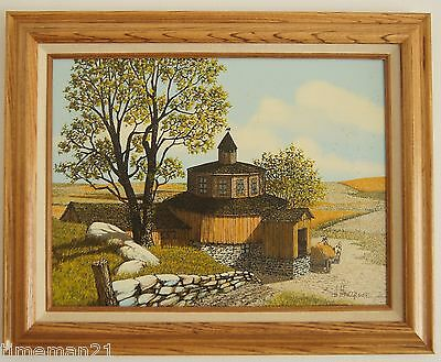 H. Hargrove The Mill Art Giclee On Canvas Signed 20x16 03713