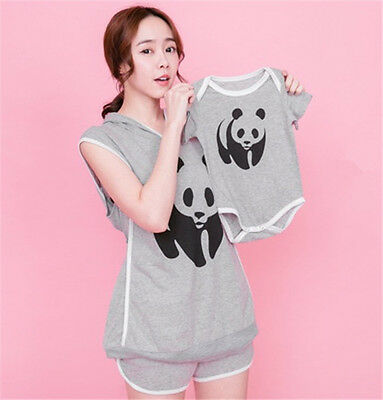 Pregnant Breastfeeding Hooded Suit Leisure Home Nursing Tops Shorts Baby Clothes