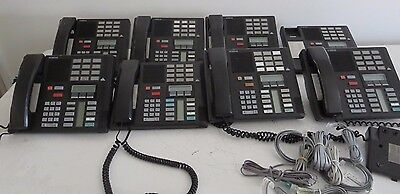 Lot of 8 Norstar Nortel M7310 / NT8B20 Business Office Desk Phone w/ Stands