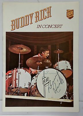 Rare Hand Signed Buddy Rich Programme Autograph  Beautifully Signed