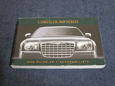 2005 Chrysler 300 French Owners Manual Book Guide Mr