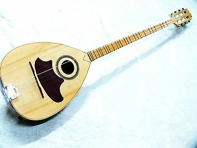 Unosell :: Arab String Instrument Acoustic  Walnut  Buzuq With  Monojack New