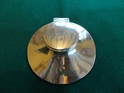 Silver Capstan Style Inkwell - 1912
