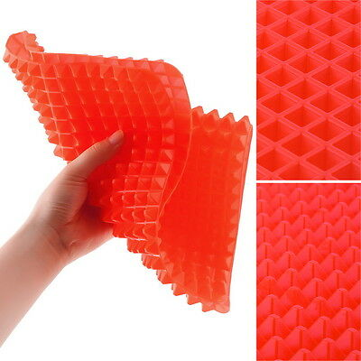 2X Non-stick Silicone Pyramid Pan Baking Mat Mould Cooking Sheet Oven Liner MP