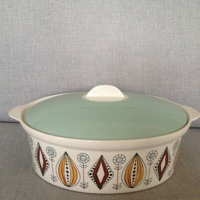 Egersund pottery casserole dish - Nordic Folk pattern made in Norway