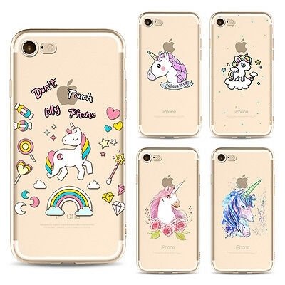 UltraThin Unicorn Pattern Soft TPU Case Cover For iPhone 5 5S 6 6S 7 Plus SE