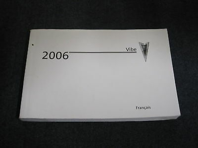 2006 Pontiac Vibe French Owners Manual Book Guide Livre