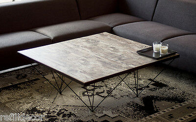 Coffee table, modern coffee table, Industrial coffee table, Handmade, square