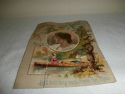 vintage  Advertising Paper Ad Bails Corset by Sangtry Old!!!