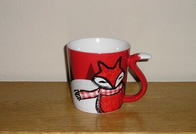 Starbucks Red Fox Coffee Tea Cup Mug Christmas Holiday
