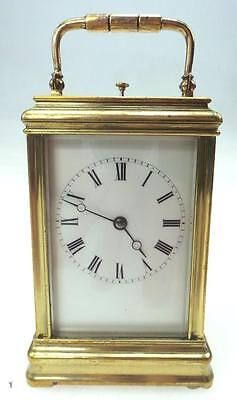 Rare Gorge Ducourt Antique French 8 Day Repeat Carriage Clock Striking Repeater