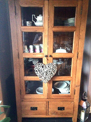 Solid Oak Display Cupboard/unit In Excellent Condition