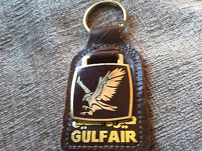 Gulf Air Airline Keyring  Metal And Enamel