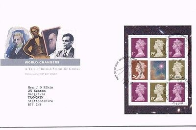 1999 Royal Mail FDC - World Changers Booklet Pane - issued 21 September 1999