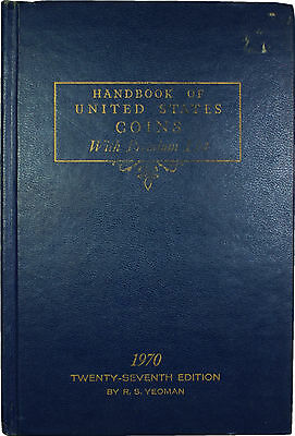 1970 27th Edition Blue Book Handbook of United states Coins R.S. Yeoman