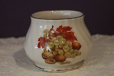 Vintage Sadler England Open Sugar Bowl - Harvest Pattern