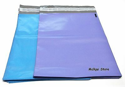 50 BLUE & PURPLE POLY SHIPPING BAGS 7.5 x 10.5 MAILER PLASTIC ENVELOPES MAILING