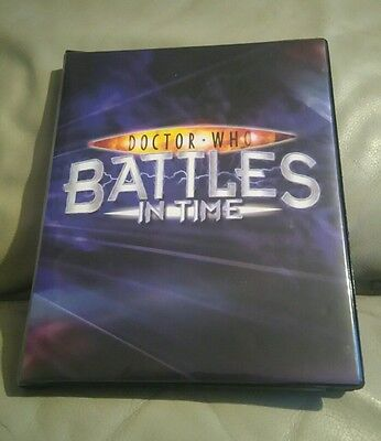 Doctor Who Battles In Time 80 Rare Super Rare + Foil Cards In Album