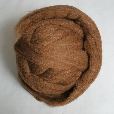 100g*Moorit*PROFESSIONALLY COMBED SHETLAND FLEECE*Natural.wool.tops.roving.pure