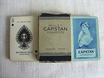 Vintage Waddington's playing cards Will's Capstan