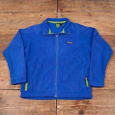 Childrens Vintage Patagonia Zip Up Fleece Jacket Blue L / Age 12 R4922