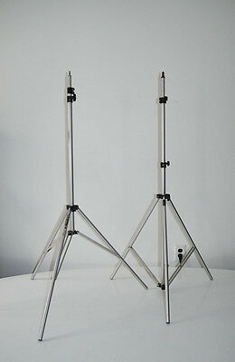 Pair Bogen Manfrotto 36061 Microphone, Light, Flash, Aluminum Stands 8' and 9'