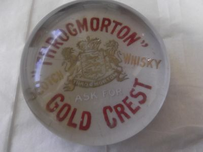 Throgmortons Advertising Scotch Whisky Paperweight