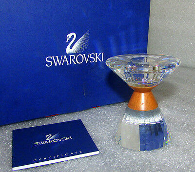 Swarovski Colonna Candleholder Small 631354 New In Box With Certificate Mint
