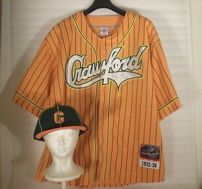 Pittsburgh Crawfords #35 Negro League Baseball 3XL Jersey and Large Cap History