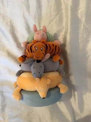 Baby Soft Plush Toy - Winnie The Pooh Ring Stacker Exc Condition
