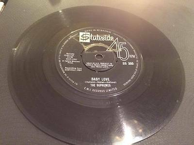 THE SUPREMES --Baby Love Vinyl 7 Inch ---SS350