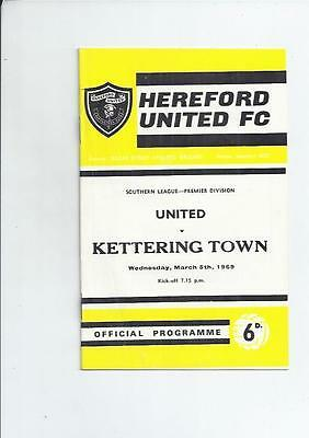 Hereford United v Kettering Town Football Programme 1968/69