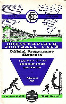 CHESTERFIELD v CREWE 1967/68 DIVISION 4