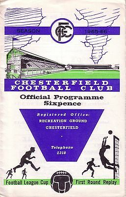 CHESTERFIELD v NOTTS COUNTY 1965/66 LEAGUE CUP