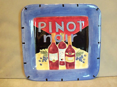 Pinot Noir - Large Square Plate. Excellent Condition.
