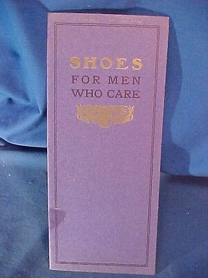 1911 SHOES For MEN WHO CARE Advertising BOOKLET Walker + Whitman