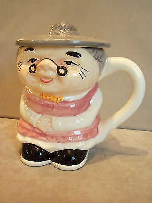 Grandma Style Toby Jug With Lid.  GC