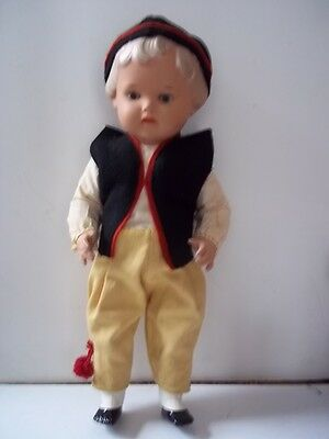 """Celluloid Boy Doll 14"""" 5 Piece Jointed"""