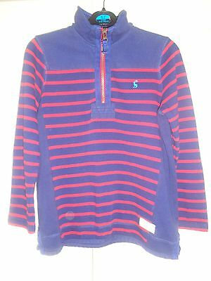 Great Joules Navy Red Striped Stretch Cotton Top Age 8 Yrs 128 Cm