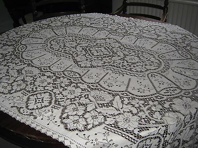 Vintage Lace Tablecloth - 48inch x 72 inch