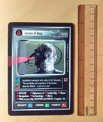 Oversized LOCUTUS OF BORG card from INQUEST (1997) for STAR TREK CCG